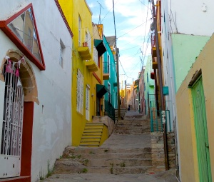 One of many callejones of Guanajuato.