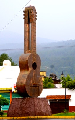 Entrance to Paracho - Guitar-building center of Mexico