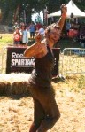 Completing Spartan Sprint, 2013. First (and only) in my age group.